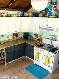 Interior Kitchen Cabinets by Nine Red Painting The Kitchen Cabinets Part 2