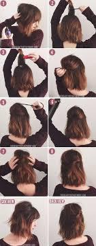 how to pull back shoulder length hair 20 easy elegant step by step hair tutorials for long medium hair