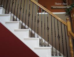 Stairway Banister High Quality Powder Coated Iron Stair Parts Ironman1821