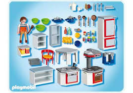 playmobile cuisine kitchen with dinnette set 4283 a playmobil