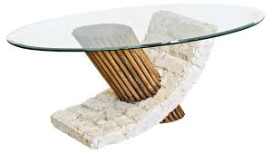 10 best collection of stone and glass coffee tables