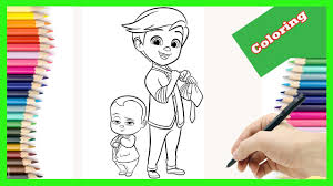 the boss baby coloring pages boss baby u0026 tim templeton dreamworks