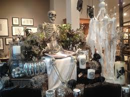 pottery barn halloween store display lots of halloween spooky