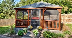 Outdoor Living Plans Outdoor Screened Gazebo Kits Rectangle To Build Wood Canada Fonky