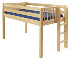 maxtrix low loft bed w straight ladder on end twin size
