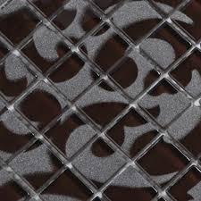 black glass tile murals wall stickers plated crystal backsplash