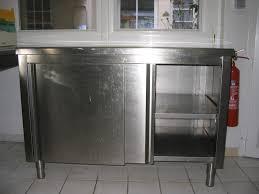 meuble cuisine inox pas cher cuisine en image