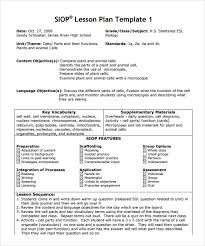 siop lesson plan templat siop lesson plan template sample pdf