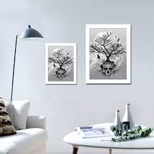 skulls wall pictures canvas painting with cardboard frame