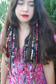 bohemian hair accessories hair wrap hair extension dread wrap bohemian hair accessory ooak