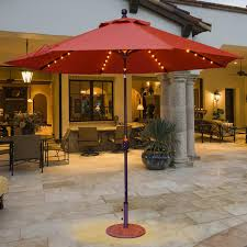 Galtech Replacement Canopy by Galtech 9 Ft Aluminum Patio Lighted Umbrella With Crank Lift And
