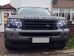 custom land rover discovery range rover sport 2005 2010 custom headlight upgrade led drl u0027s