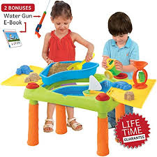 sand and water table with lid amazon com sand water table aquatic arena sandbox activity play
