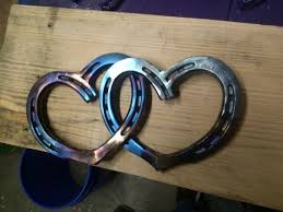 heart shaped horseshoes forever hearts horseshoes shaped and welded to create by shinyshoe