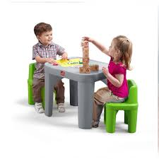 step2 mighty my size 3 piece grey and green children u0027s table and