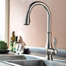tracier gooseneck single hole kitchen faucet with pull out spray