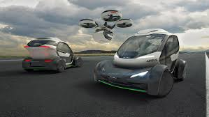 futuristic flying cars airbus presents concept for flying car at geneva motor show