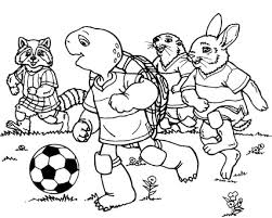 Franklin The Turtle And Friends Playing Football Coloring Pages Franklin Coloring Pages