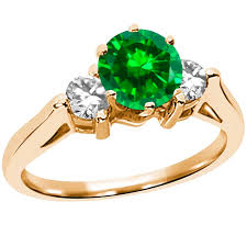 gold emerald engagement rings gold emerald engagement rings for