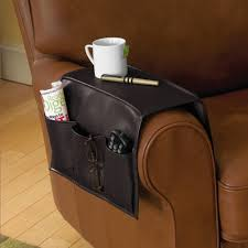 Armchair Remote Holder Faux Leather Armrest Caddy In Bedside Storage