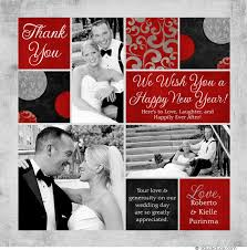 newlywed cards colorful multi photo new year card 2018 unique photos