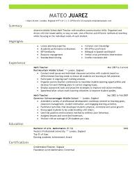 resume samples for teaching profession academic example sample