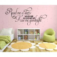 girls bedroom wall decals kiss me goodnight girls bedroom wall sticker wall decal