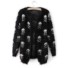 skull sweater fuzzy skull sweater skulls and gear