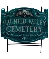 haunted valley cemetery lawn signs halloween decoration