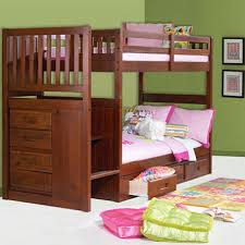 Staircase Bunk Bed Merlot Finish Sams Club - Stairs for bunk beds