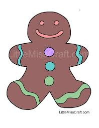 gingerbreadman coloring page crafts christmas coloring pages