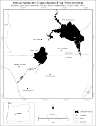 Oregon Map Of Counties by Federal Register Endangered And Threatened Wildlife And Plants