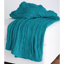 rizzy home cable knit cotton luxury sweater throw blanket hayneedle