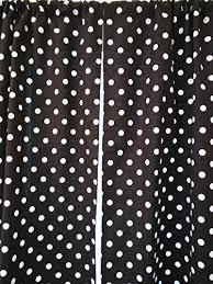 Black Polka Dot Curtains Black And White Polka Dots Curtain 2 Panels Tiers