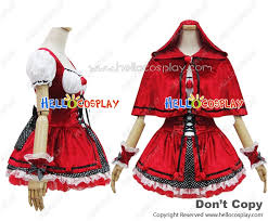 Red Riding Hood Costume Angel Feather Cosplay Little Red Riding Hood Costume Dress