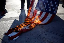 Desecrating The Flag Here U0027s The Funny Thing About Trump U0027s Flag Burning Tweet The