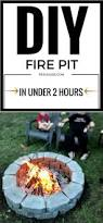 diy fire pit in under two hours 1915 house