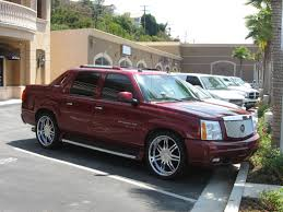 cadillac ext truck burgundy cadillac escalade ext truck 2 madwhips