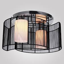 Modern Light Fixtures by Lightinthebox Black Semi Flush Mount With 2 Lights Mini Style