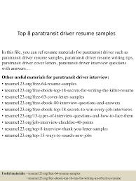 Sample Resume Objectives For Drivers by Top8paratransitdriverresumesamples 150529092217 Lva1 App6891 Thumbnail 4 Jpg Cb U003d1432891380