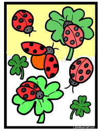 crafts ladybug coloring page