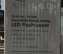 altair 14 led flushmount light altair lighting 14 flushmount led light fixture costcochaser