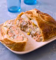 les meilleures recettes de cuisine koulibiac feuilleté russe au saumon les meilleures recettes de