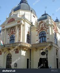 traditional baroque architecture budapest hungary stock photo