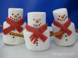 snowman marshmallows mega crafty marshmallow snowmen