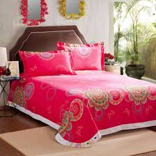 King Size Brushed Cotton Duvet Covers Pink White Paisely Floral Queen Size Brushed Cotton Bedding