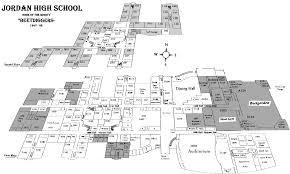 1999 brochure daily schedule and jordan high school information floor map