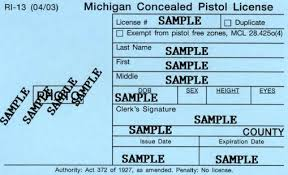 how to get a michigan concealed pistol license ccw cpl