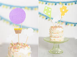 air cake topper diy kite and hot air balloon cake toppers