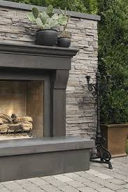 Stacked Stone Outdoor Fireplace - best 25 outdoor stone fireplaces ideas on pinterest outdoor
